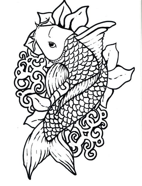coloring pages for adults japan japanese koi coloring pages download and print for free