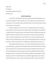 Of Pi Essay by Of Pi Reading Log Rana Pooja Rana Ms Mancini Honors 12 Summer Assignment Chapter