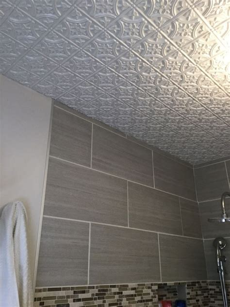 Metal Ceiling Tiles by Metal Ceiling Tiles In Bathroom Www Imgkid The