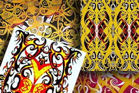 motif tato dayak dan artinya berburu batik khas dayak di pontianak goresan canting