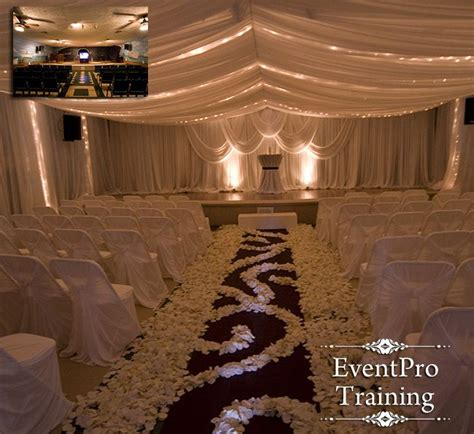 wedding ceiling drapes this website has training videos on how to do draping for