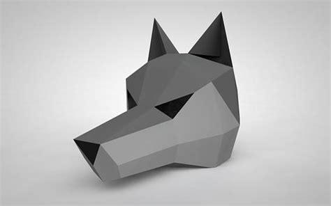 Papercraft Wolf Mask - wolf mask paper mask papercraft 3d diy kit