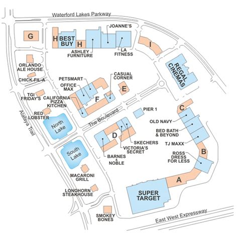 layout of florida mall waterford lakes town center directory waterford lakes