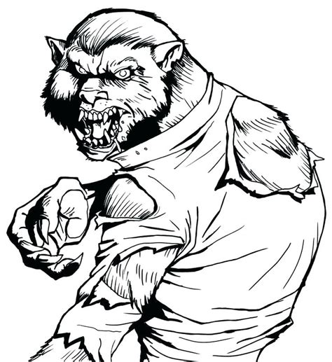 baby werewolf coloring page goosebumps coloring pages