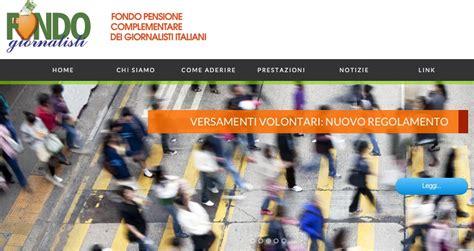 fondo pensione di roma pensioni il fondo giornalisti ha un nuovo sito