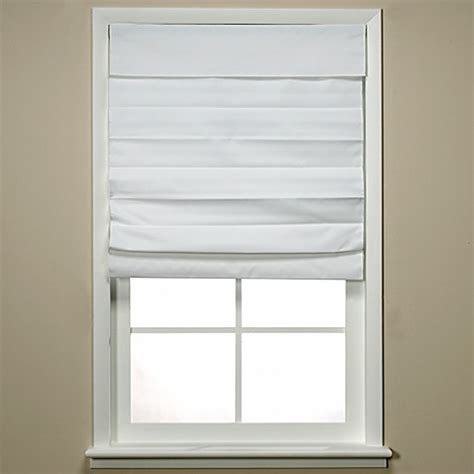 bed bath and beyond l shades insola 174 chatham cordless roman cellular shade in white