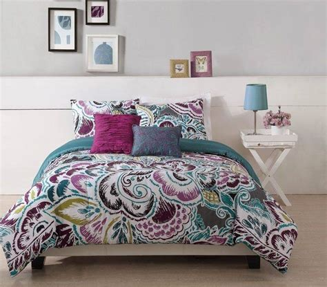 teen queen comforter sets teen girl floral turquoise tropic twin full queen king