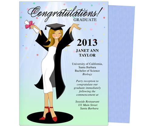 templates for college graduation announcements cheer for the graduate graduation party announcement