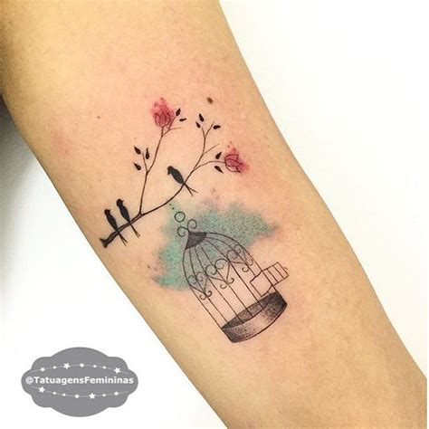 watercolor tattoo münchen 17 best ideas about bird cage tattoos on cage