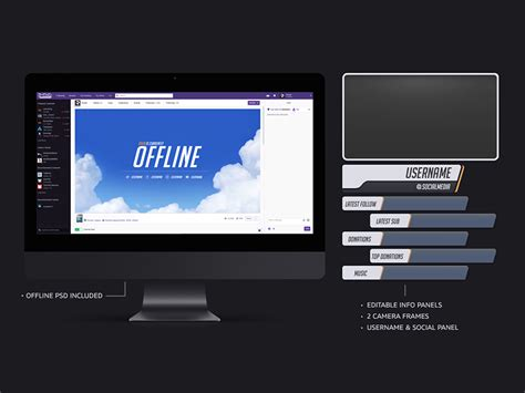 twitch business card templates overwatch twitch overlay template freebie