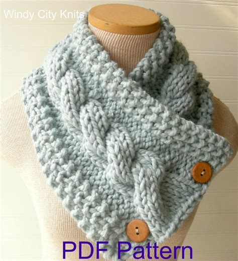 etsy cowl pattern my extremely popular knit cabled cowl scarf pattern is now