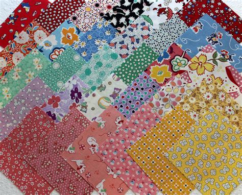 1930s Quilt Fabric by 1930s Feedsack Repro Quilt Fabric Squares 30 4 Inch Charms All