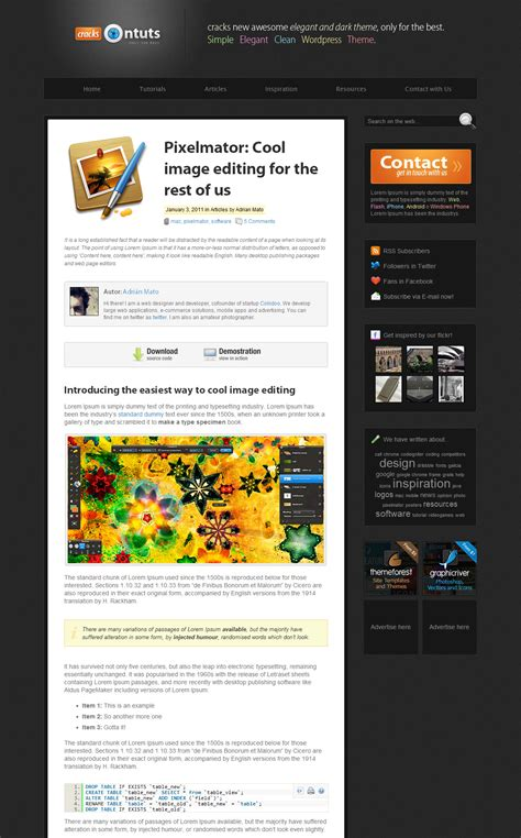 themeforest hack 10 awesome wordpress themes for tutorial sites wp solver