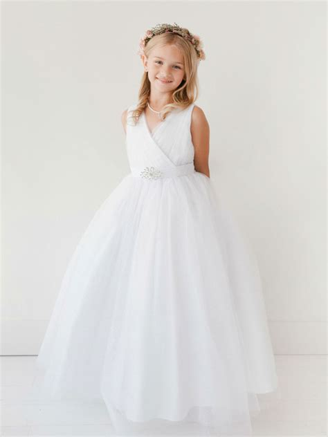 ttlong girls dress style  white long length