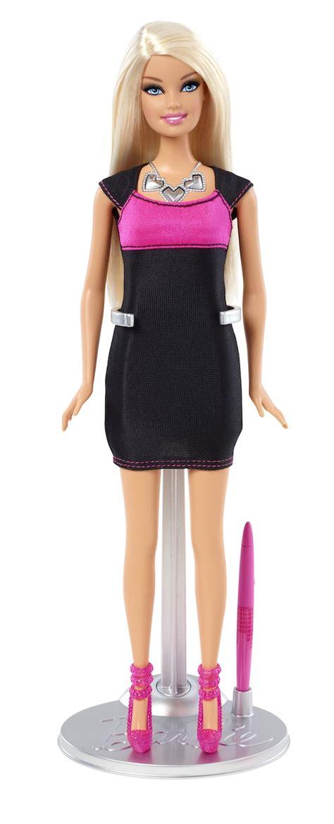 design dress toy mattel updates barbie with a futuristic digital display