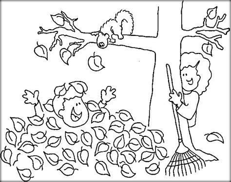 Autumn Coloring Pictures by Autumn Coloring Pages Color Zini