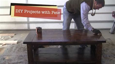 Diy Pete Farmhouse Table by How To Distress A Farm Style Coffee Table Episode 3
