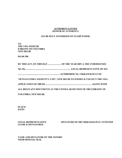 sle power of attorney letter template best letter sle