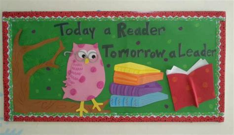 themes for reading reading owl bulletin board idea myclassroomideas com
