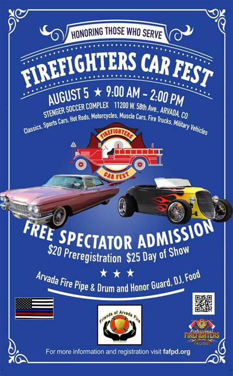 arvada firefighters car fest fire