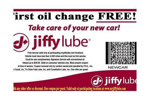 jiffy lube coupons $15 seattle