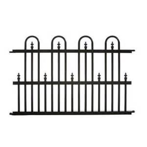 home depot garden fence specrail garden perimeter 2 ft h x 3 ft w aluminum fence