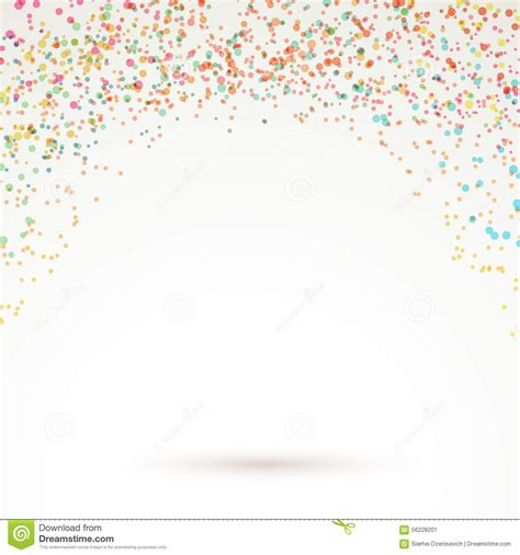 background design and layout colorful bright confetti carnival background stock vector