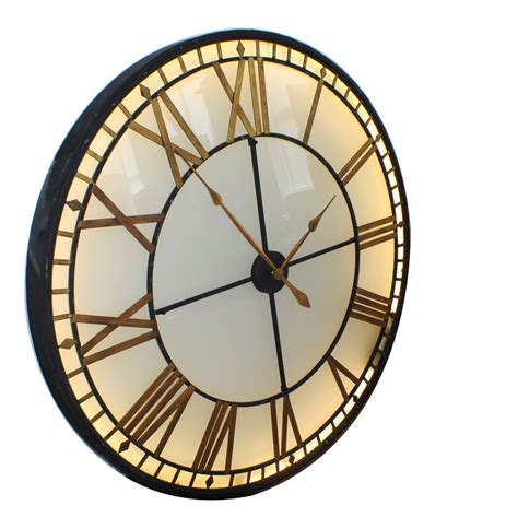giant clocks large wall clock with mirror modern diy large wall clock