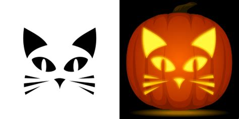 Pumpkin Carving Cat Templates by Easy Cat Pumpkin Carving Stencil Free Pdf Pattern To
