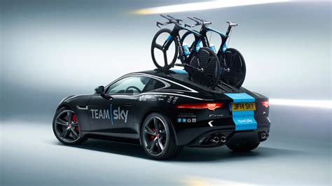 jaguar present team sky with concept f type time trial
