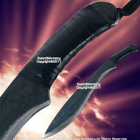 battle ready knives blackened carbon steel kukuri battle ready knife machete