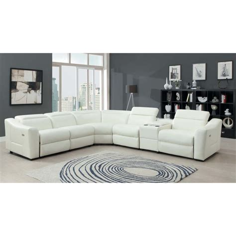 sectional white leather recliner sectional sofa