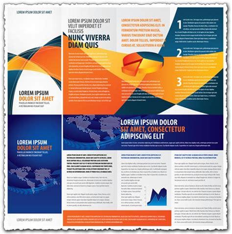 vector leaflet design eps tri fold business brochure vectors