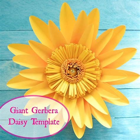 paper daisy flower tutorial giant gerbera daisy paper flower template and tutorial