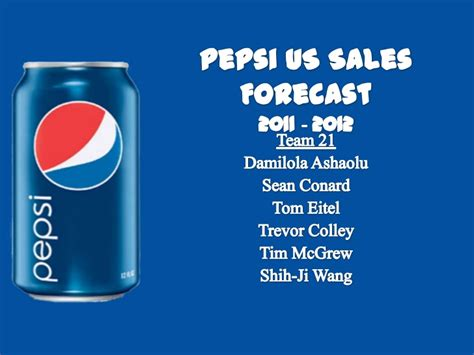 Pepsi Mba by Mba Team Pepsi Us Carbonated Soft Drink Sales Forecast