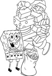 spongebob christmas coloring pages kids coloring