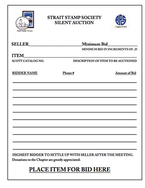 keyword bid silent auction bidding form search engine at