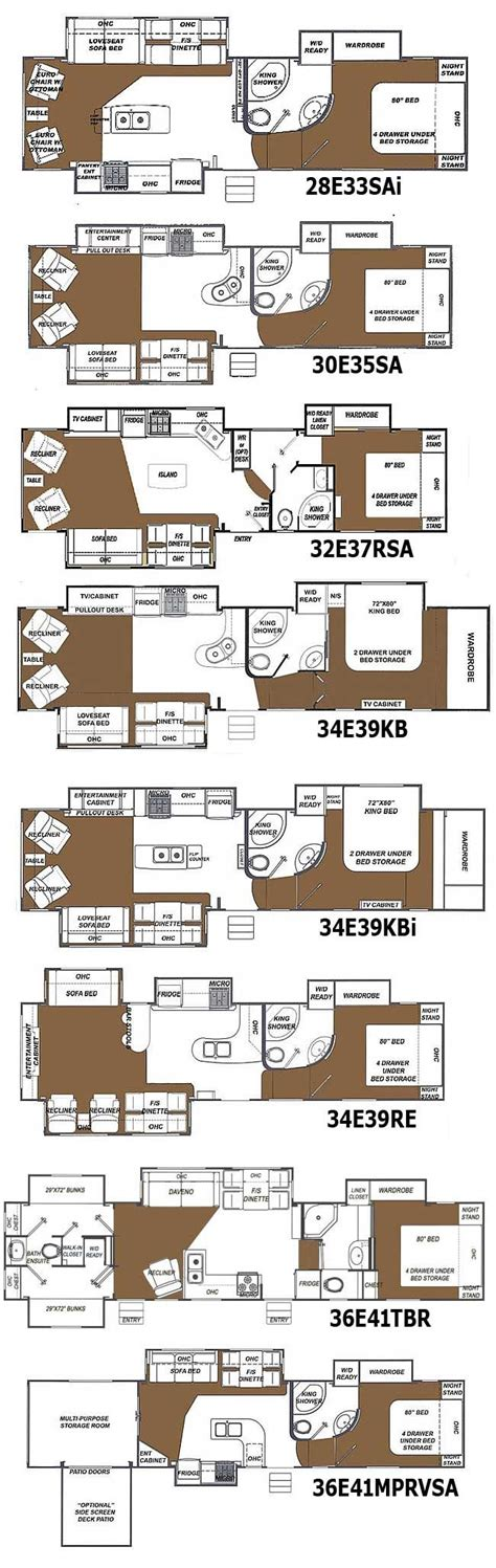 2 bedroom 5th wheel floor plans beautiful 2 bedroom 5th wheel floor plans with front