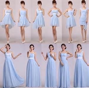 custom design light blue formal dress bridesmaid dresses