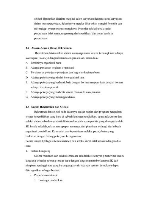 format surat pernyataan tidak menuntut hasil seleksi makalah msdm rekruitmen dan seleksi karyawan