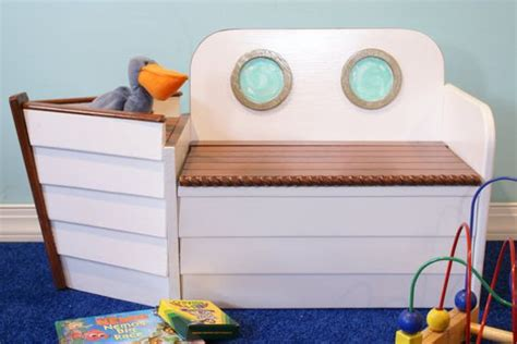 nursery storage bench kids bench toys and anchors on pinterest