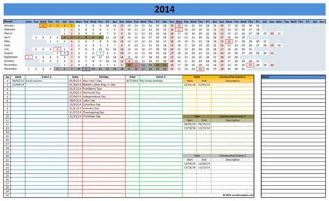calendar excel templates