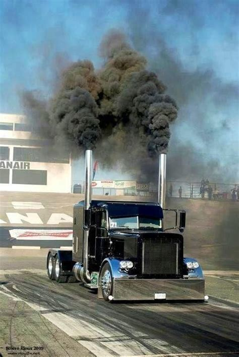 rattletrap jeep rollin coal stagin and rollin coal in the peterbilt big rigs