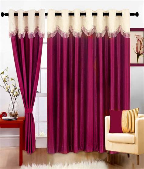 deep pink curtains cortina set of 2 fancy deep pink curtains 5 ft buy
