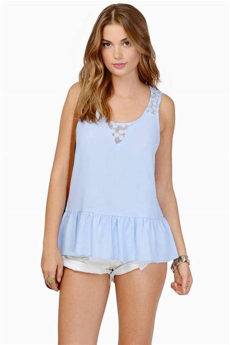 light blue womens tops light blue crop top blue top cross back top 9 00