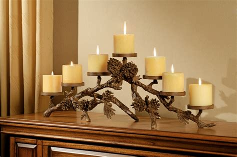 spi home decor pinecone mantlepiece candleholder by spi home 163 you