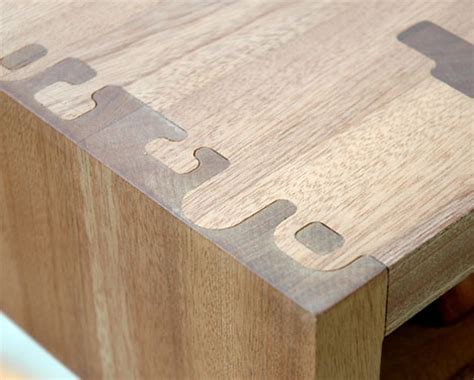Unique Sinks by Decorative Puzzle Piece Table Joints Put The Joy In Joinery