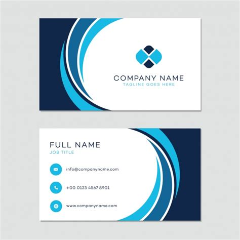 business card template vector free download