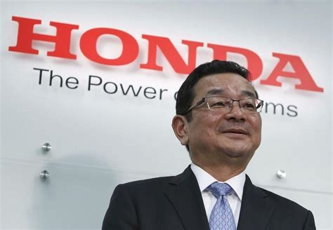 Pres Motor Honda executive tsunami at honda motor co new president ceo