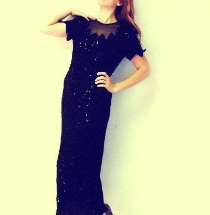 Sho Gatsby reserved stenay silk black sequin beaded gown size 10